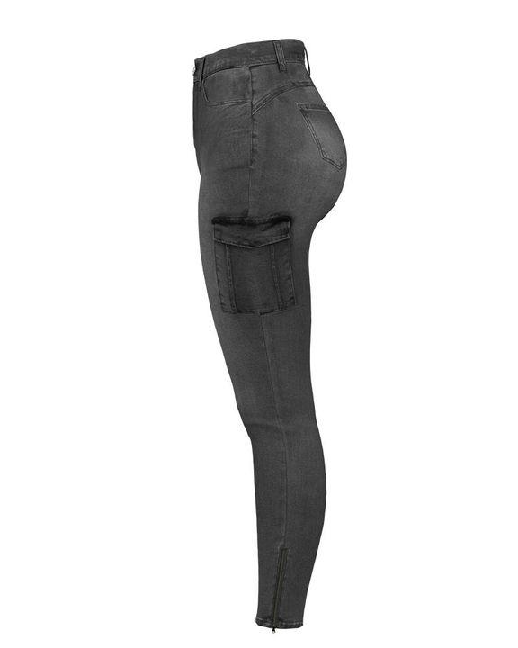 Flap Pocket Zipper Side Skinny Jeans gallery 31