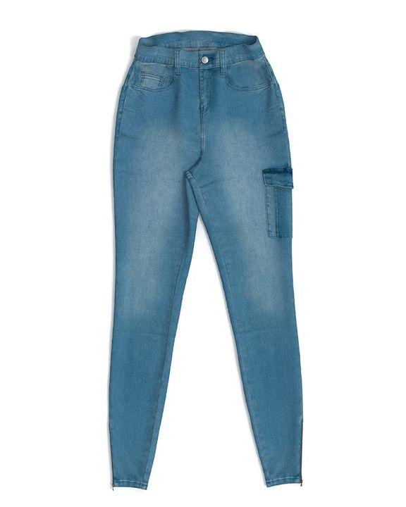 Flap Pocket Zipper Side Skinny Jeans gallery 14
