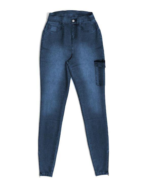 Flap Pocket Zipper Side Skinny Jeans gallery 24