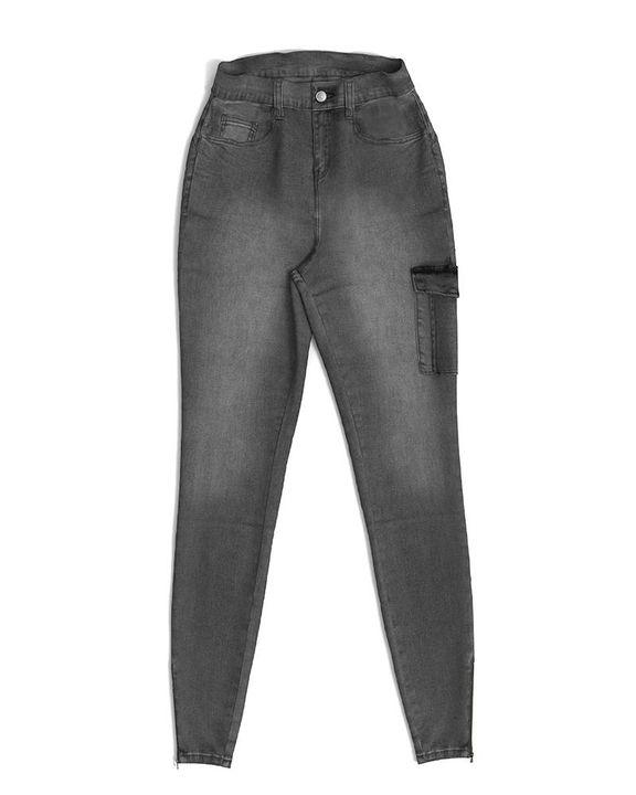 Flap Pocket Zipper Side Skinny Jeans gallery 33