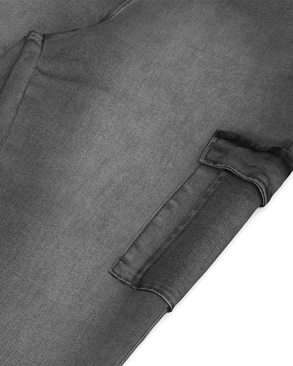 Flap Pocket Zipper Side Skinny Jeans gallery 34