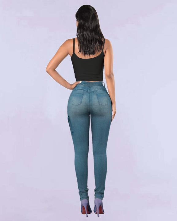 Flap Pocket Zipper Side Skinny Jeans gallery 17