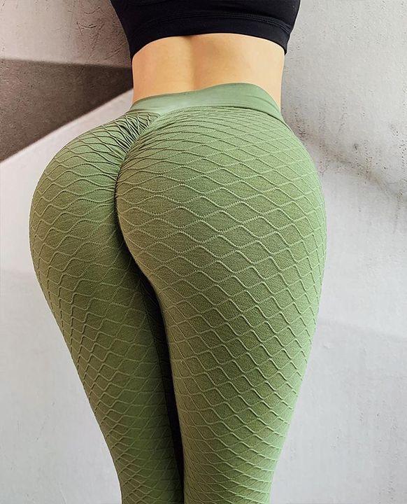 High Waist Butt Lifting Seamless Textured Leggings gallery 12