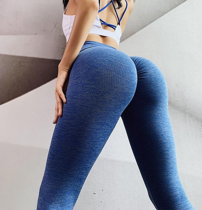 Ruched Hip Lifting High Rise Stretch Sports Leggings gallery 3