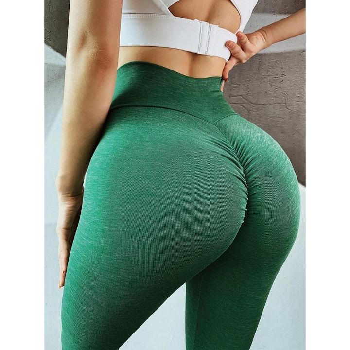 Ruched Hip Lifting High Rise Stretch Sports Leggings gallery 2