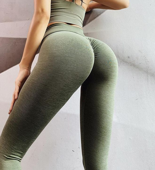 Ruched Hip Lifting High Rise Stretch Sports Leggings gallery 4