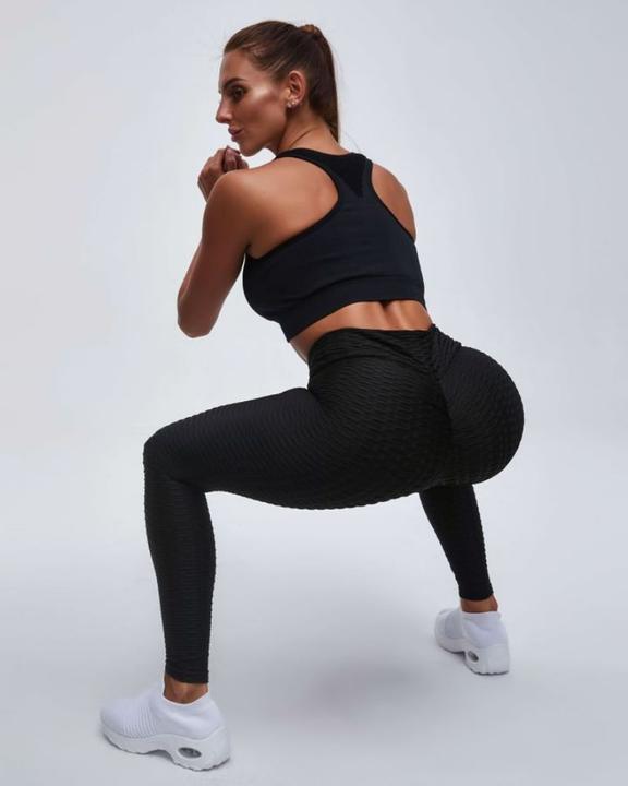 High Waist Butt Lifting Textured Leggings gallery 11