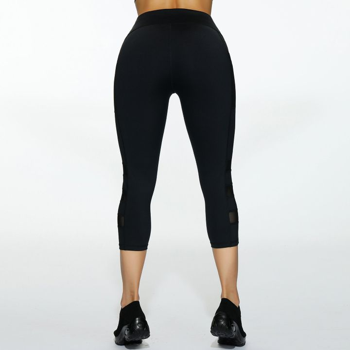 Side Pocket Patched Capris Sports Leggings gallery 6