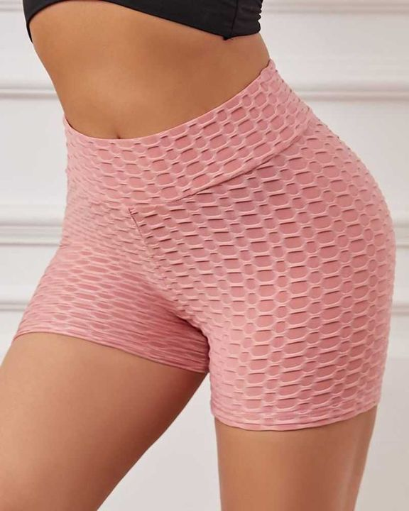 Bow Tie Textured Butt Lifting Sports Shorts gallery 9
