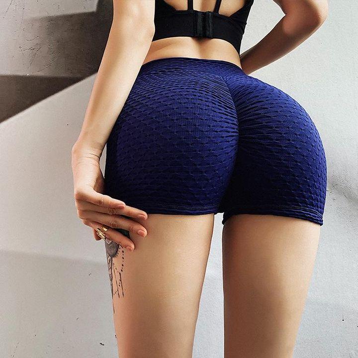 Butt Lifting Elastic Textured Running Sports Shorts gallery 12