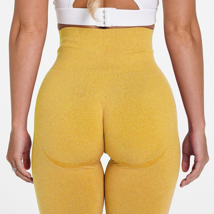 High Waist Butt Lifting Breathable Seamless Workout Leggings gallery 9