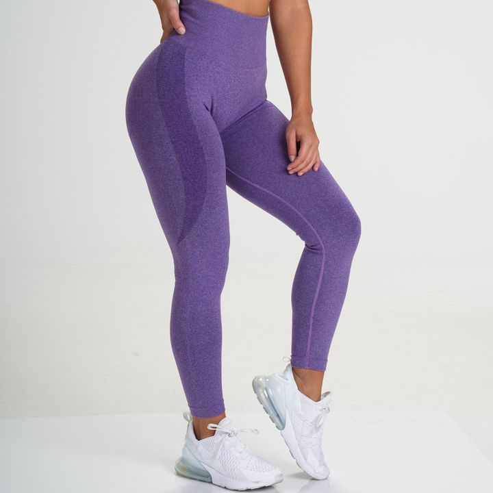 High Waist Butt Lifting Breathable Seamless Workout Leggings gallery 4