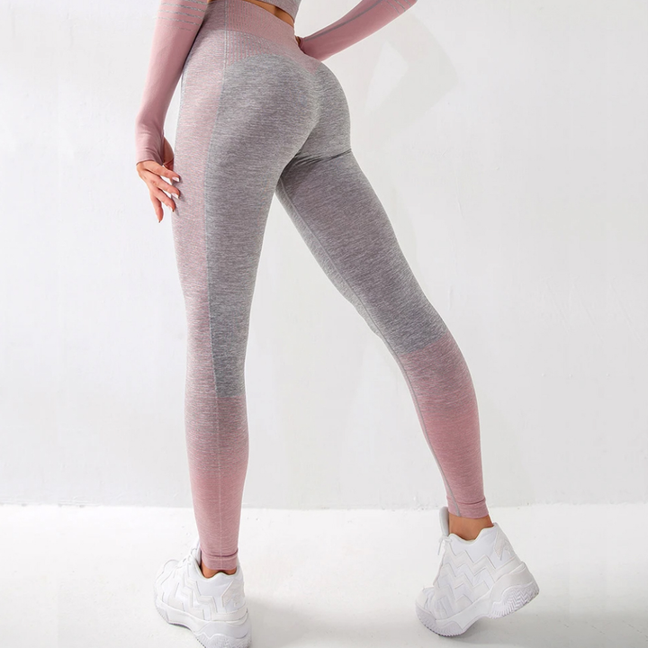 Striped Butt Lifting Breathable Seamless Sports Leggings gallery 2