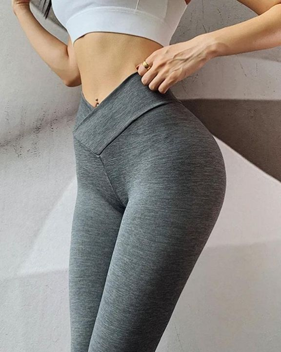 Ruched Hip Lifting High Rise Stretch Sports Leggings gallery 1