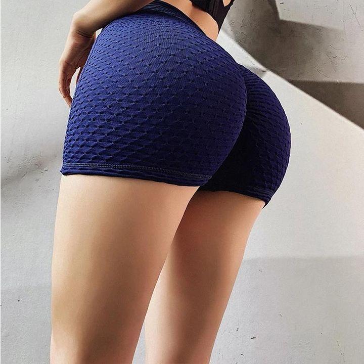 Butt Lifting Elastic Textured Running Sports Shorts gallery 10
