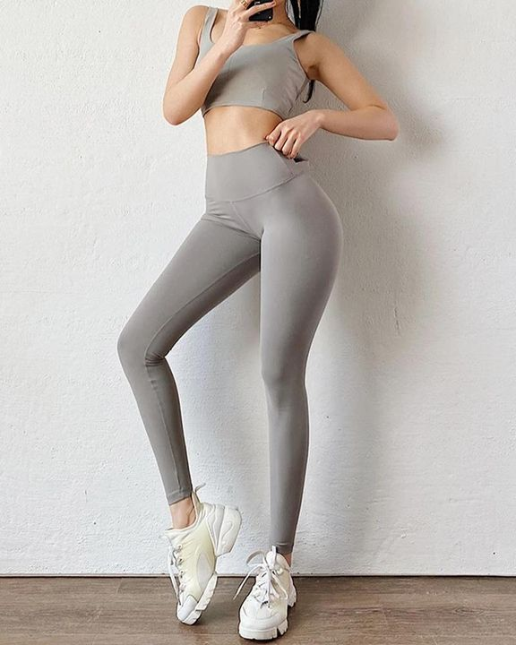 Ruched Bow Tie Back Sports Leggings gallery 4