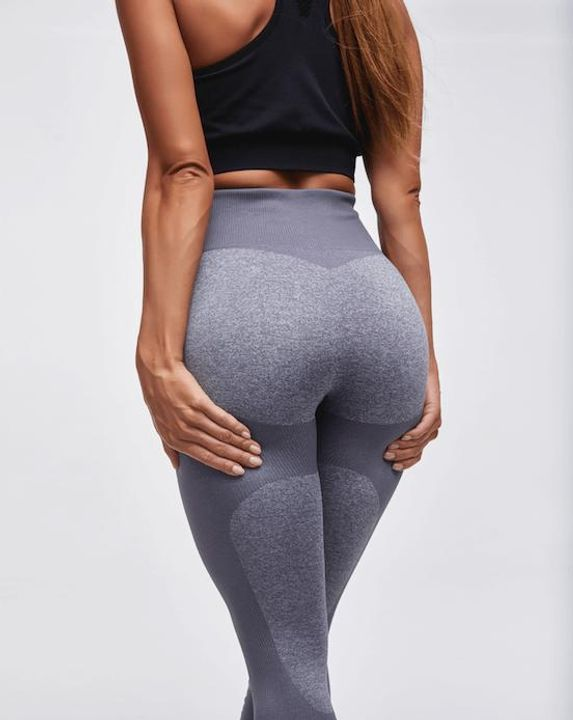 High Waist Compression Ribbed Texture Seamless Leggings gallery 10