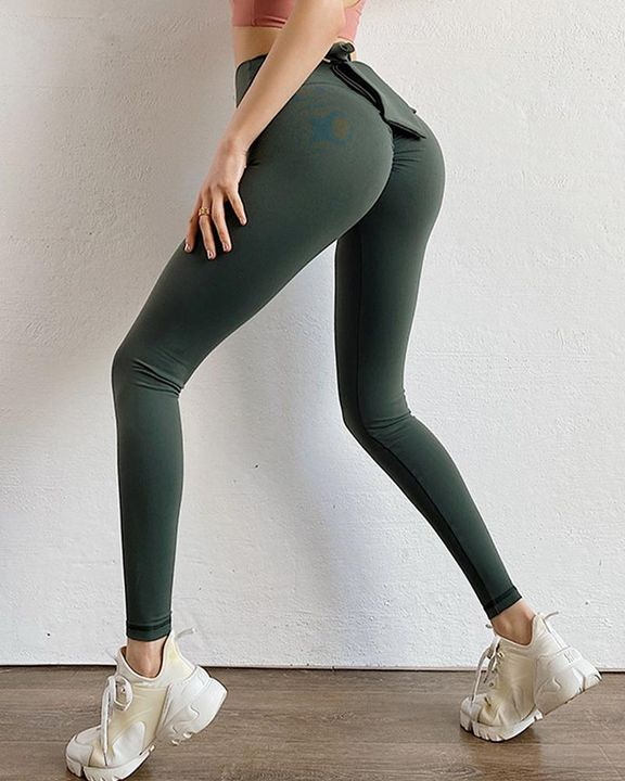 Ruched Bow Tie Back Sports Leggings gallery 14