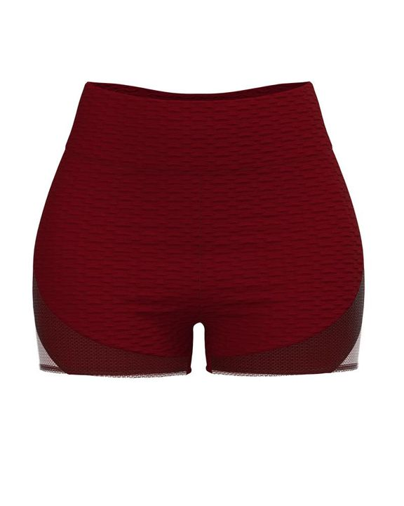 Colorblock Textured High Waist Sports Shorts gallery 3