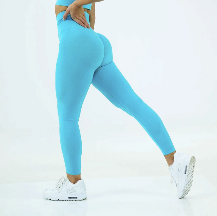 High Waist Butt Lifting Breathable Seamless Workout Leggings gallery 5
