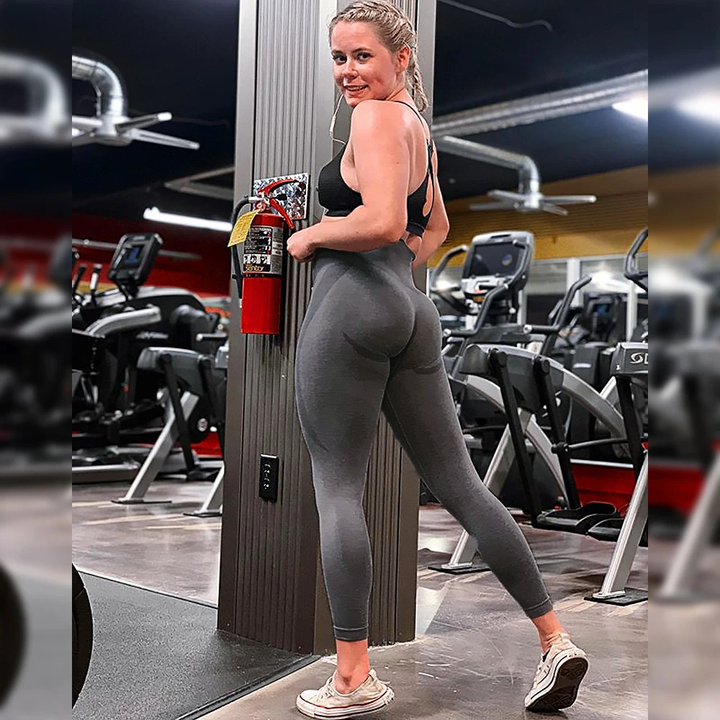 High Waist Butt Lifting Breathable Seamless Workout Leggings gallery 2